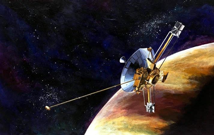 Maqueta 3D de la Sonda Pioneer 10.