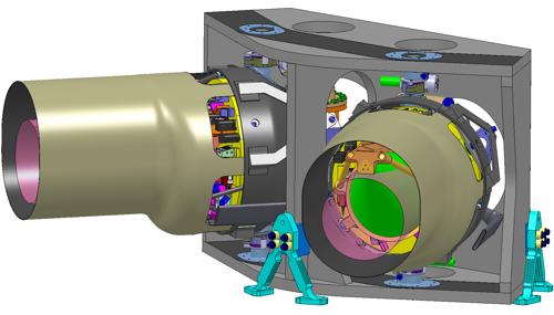 Upevnění dvojice dalekohledů v mateřské sondě NGO
